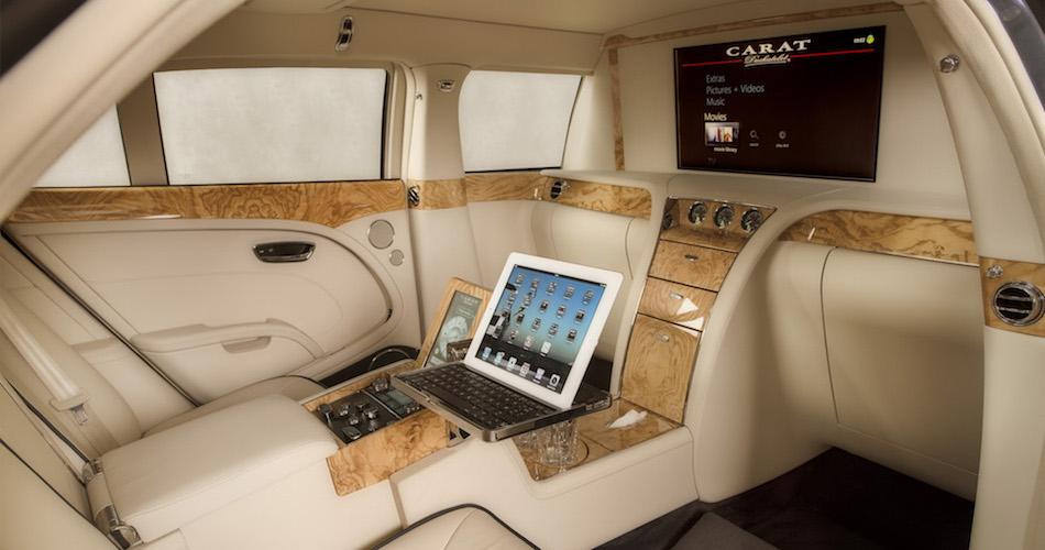 Carat Bentley_Mulsanne Limousine bespoke interior beige wood exlusive