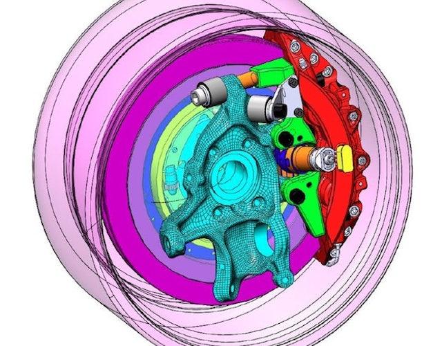 wheel pressure zones